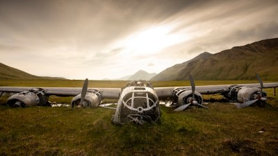 Aleutian Islands plane wreckage