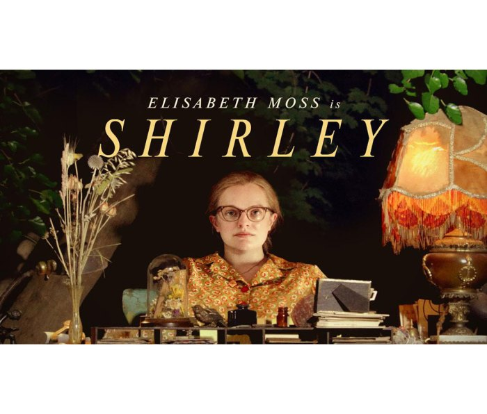Poster for Hulu special 'Shirley,' in which Elisabeth Moss plays Shirley Jackson.