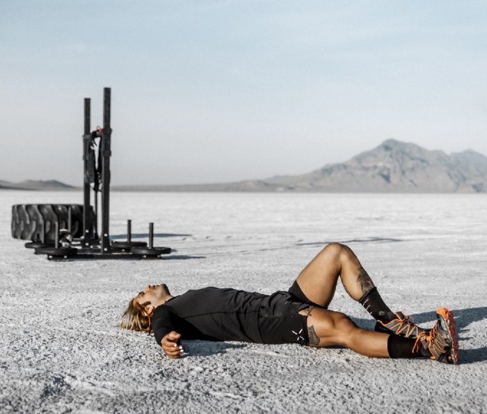 Michael Miraglia at the end of world's first strongman marathon