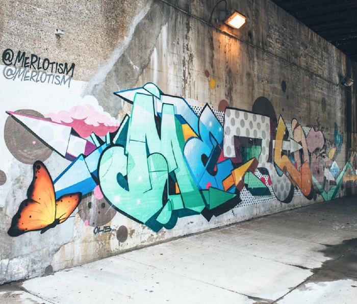 Alphabet Monsters mural by Chicago duo Merlot and Amuse along B_Line