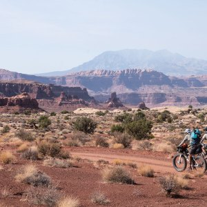 Three men bikepacking and packrafting across the rugged Southwest terrain.