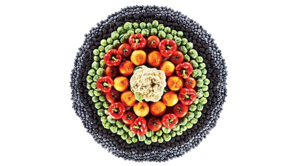 Medley of fruits and vegetables