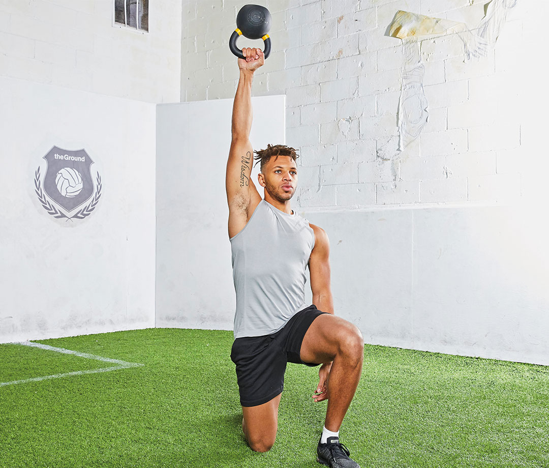 Half-Kneeling One-Arm Kettlebell Press