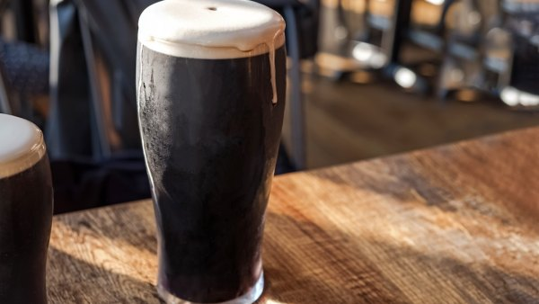 high ABV Cold refreshing glass of stout beer