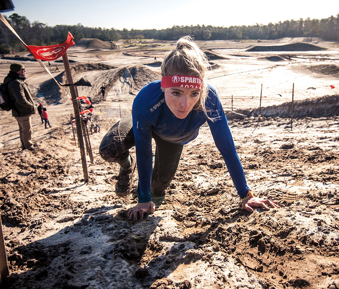 Female competitor in Spartan Race