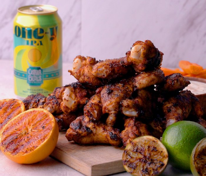 Grilled One-y Citrus Chili Wings
