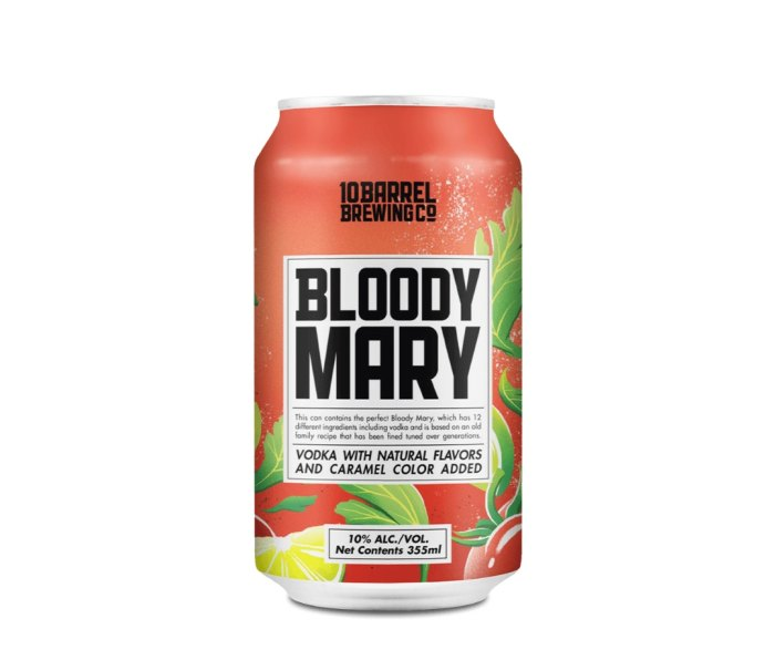 10 Barrel's Bloody Mary is one of the summer's best canned cocktails.