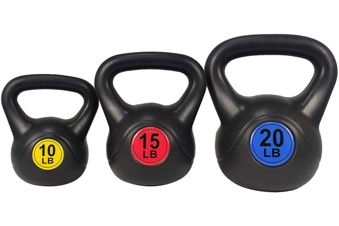 BalanceFrom Wide Grip Kettlebell Exercise Fitness Weight Set