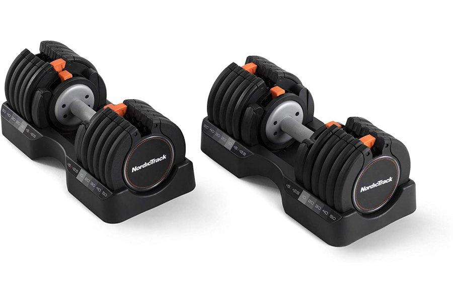 NordicTrack Select-A-Weight 55 Lb Dumbbell Set