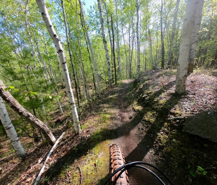 Riding in the Cuyuna Lakes area of Minnesota