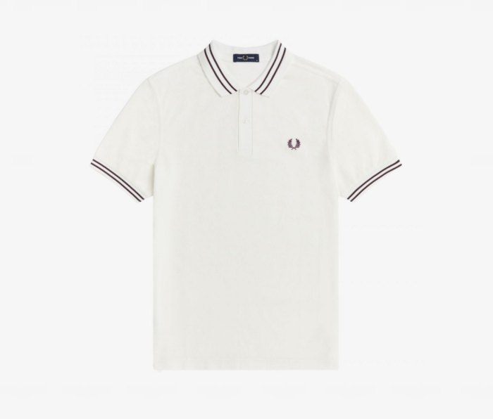 Fred Perry Textured Panel Polo Shirts
