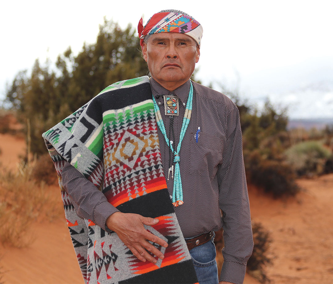 Portrait of Hank Stevens, President of the Navajo Mountain Chapter of the Navajo Nation