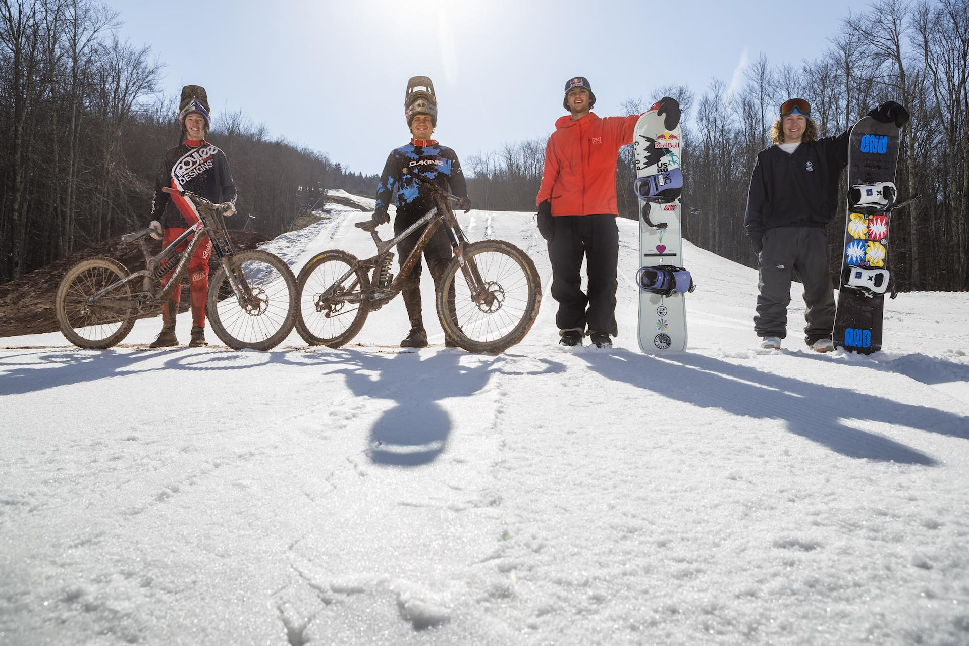Mountain bike snowboard Red Bull Last Chair First Run Snowshoe, West Virginia11
