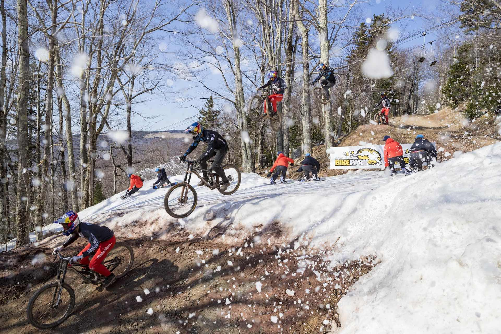 Mountain bike snowboard Red Bull Last Chair First Run Snowshoe, West Virginia8