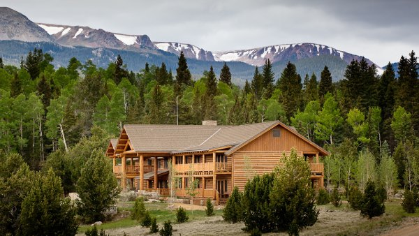 Landscape view of Costilla Lodge, a Ted Turner Reserves property