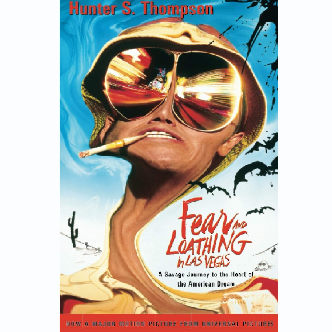 'Fear and Loathing in Las Vegas: A Savage Journey to the Heart of the American Dream' by Hunter S. Thompson and illustrated by Ralph Steadman