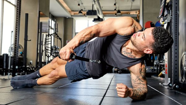 Side Plank Cable Reach-Through