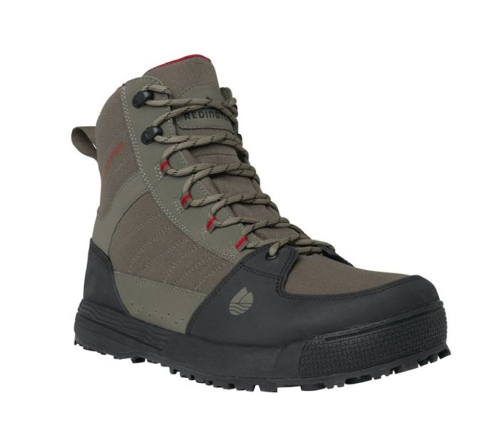Redington Benchmark wading boots are light and packable.