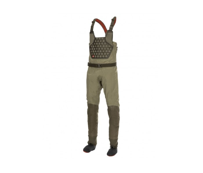Simms Flyweight waders are ultralight and packable.