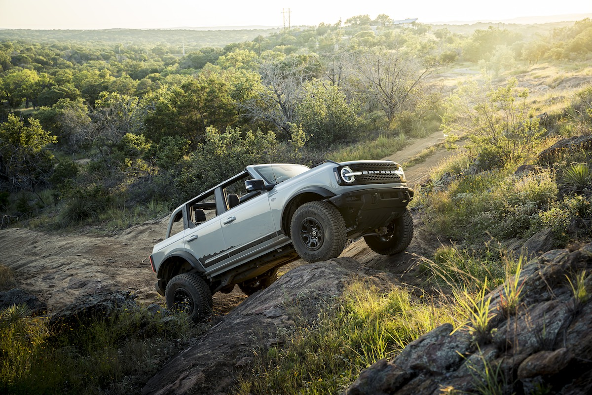 testing the Ford Bronco in Texas