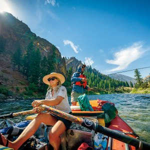 Fishing along Middle Fork Salmon River in Idaho