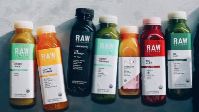 Assortment of juices from Raw Juicery