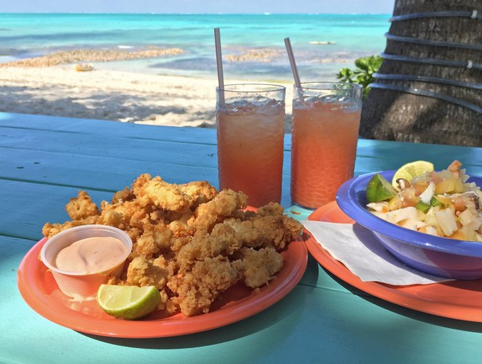 Cracked conch and conch salad.