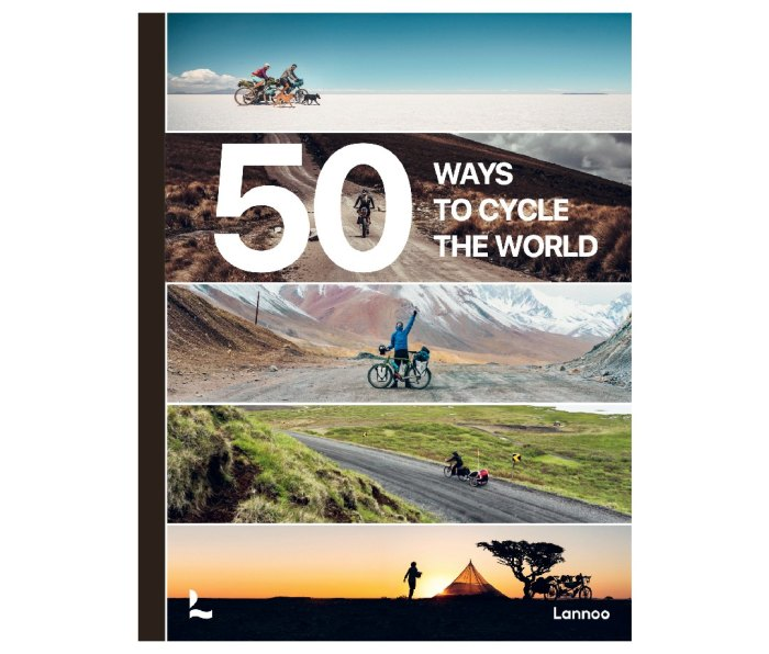 The cover for 50 Ways to Cycle the World by Tristan Bogaard and Belén Castelló