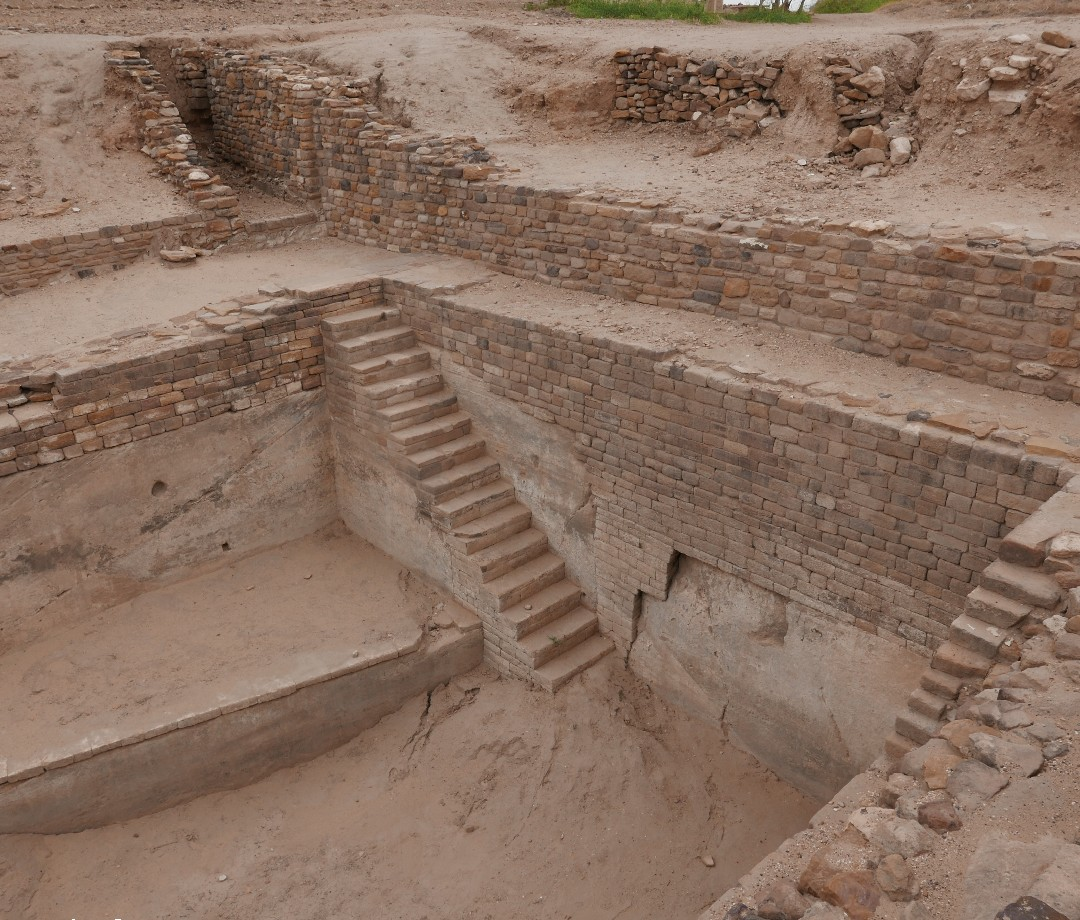 Dug-out ruins from fortified city of Dholavira that was last occupied 3,500 years ago.