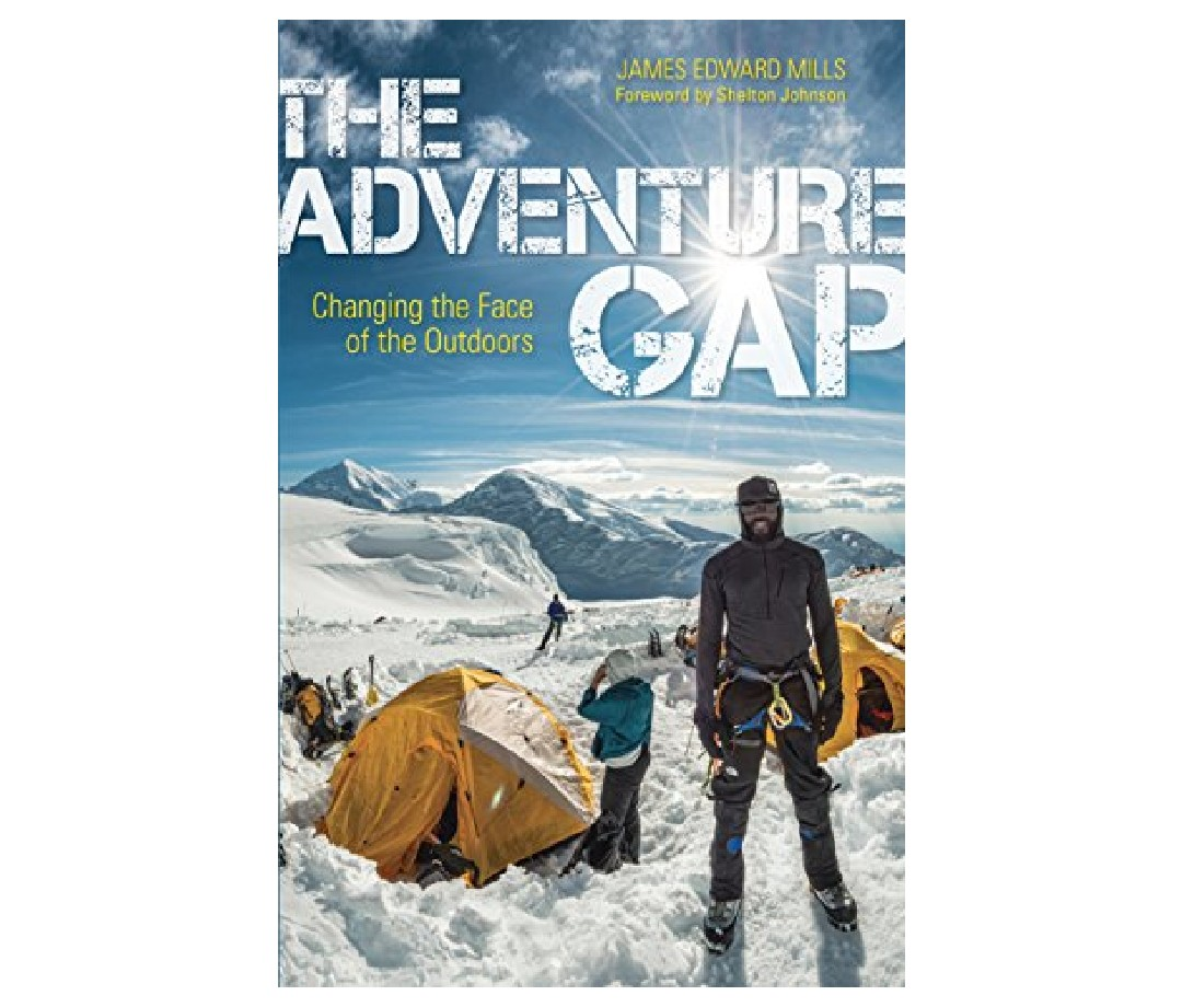 The book cover for The Adventure Gap: Changing the Face of the Outdoors by James Mills