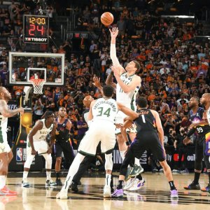 The Milwaukee Bucks face the Phoenix Suns in Game 1 of the NBA Finals