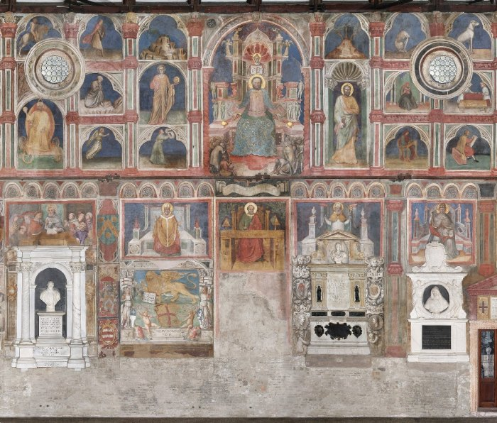 One of the frescoes painted in Padua, Italy during the 14th century.