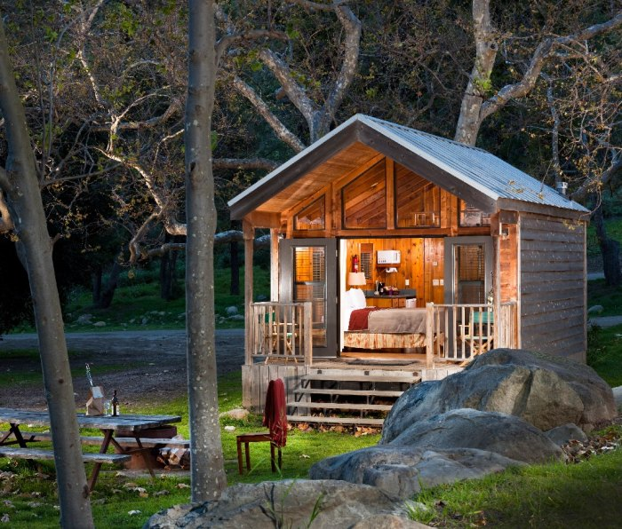 California glamping: Nestled between the Pacific Ocean and the Santa Ynez Mountains, El Capitan Canyon is home to 350 acres of hiking trails and nature lodging.