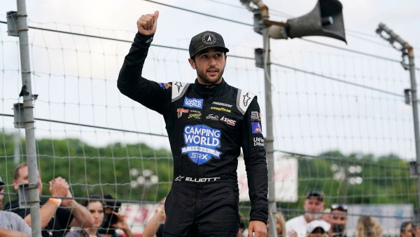 Chase Elliott is introduced before an SRX Series auto race, in Nashville, TN