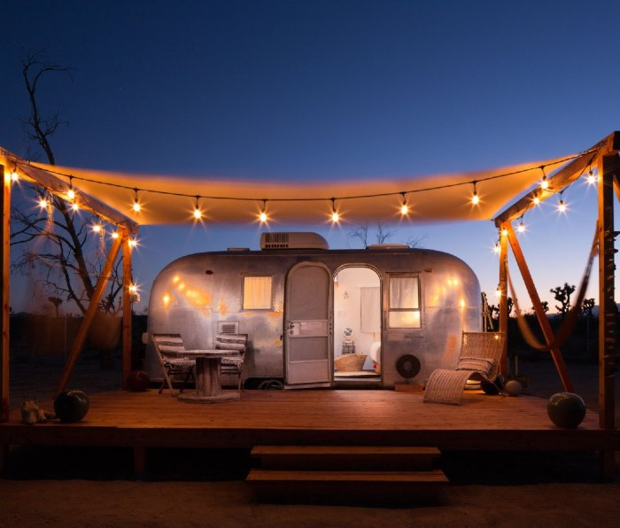 California glamping: Located just outside of Joshua Tree National Park, Joshua Tree Acres is a desert oasis for luxury campers.