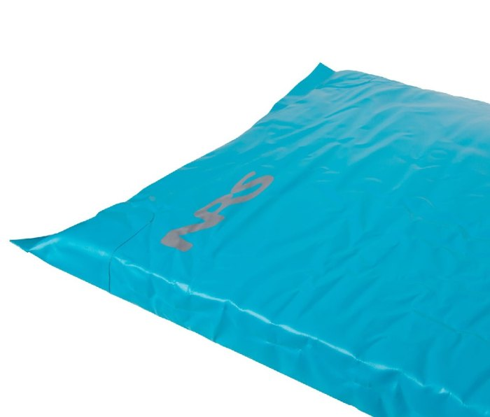 You'd be hard pressed to find a sleeping pad more comfortable than NRS's River Bed pad. Constructed from a waterproof, PVC-free TobaTex exterior and a medium-foam density polyurethane foam interior, the pad holds up well against the elements.