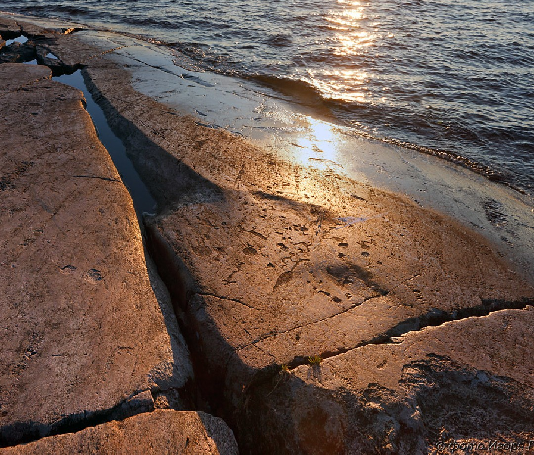 Located on Lake Onega and the White Sea, 4,500 petroglyphs carved into rock 6 to 7 thousand years ago.