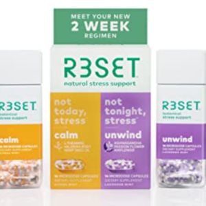 R3SET Day & Night Combo Anxiety & Sleep Support Supplement