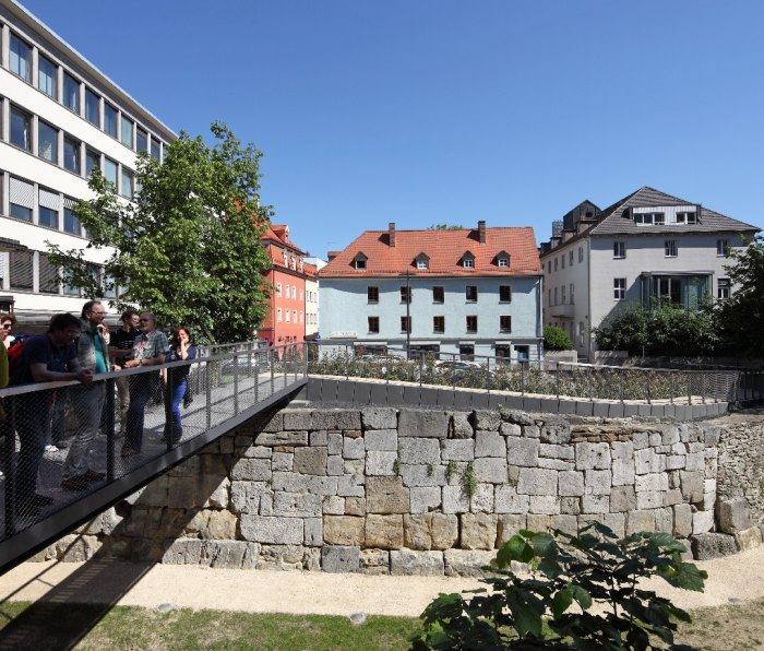 A wall from a former Roman fort in Regensburg, Germany.