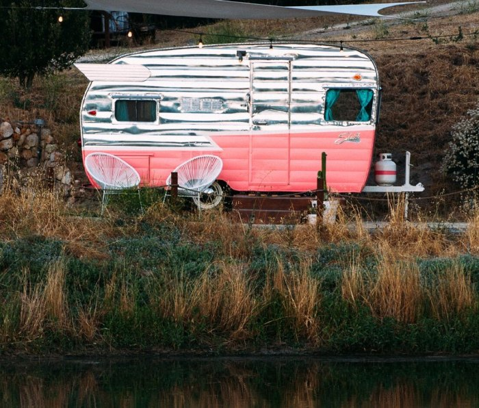 Located in the heart of Paso Robles, aka wine country, The Trailer Pond is situated on a 130-acre privately owned organic vineyard.