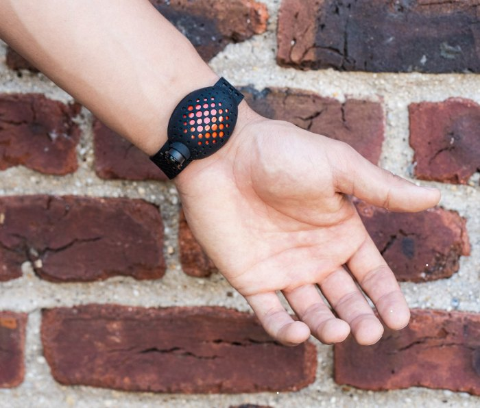 This OLO Band with built-in hand sanitizer is geared for pandemic-era gym sessions (let's hope we're nearing the end of that), but it's also a nice thing to have for general cleanliness since the gym can be, you know, really freaking gross.