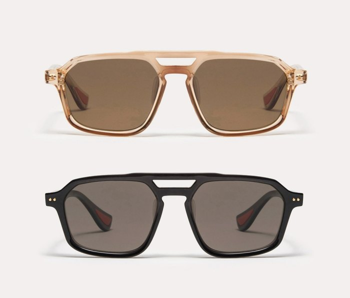 Article One x Mission Workshop sunglasses in black and vintage crystal