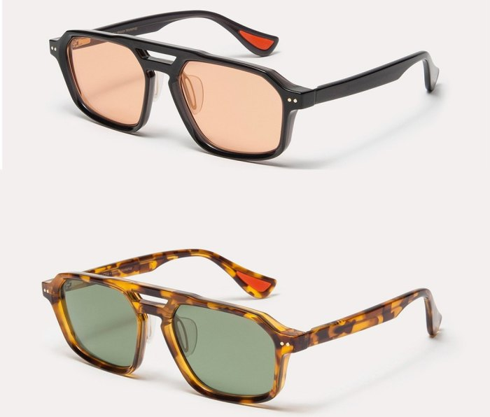 Article One x Mission Workshop sunglasses in black/amber and tortoise