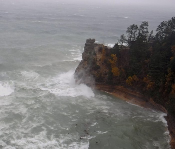 Miners Castle Point in a November storm