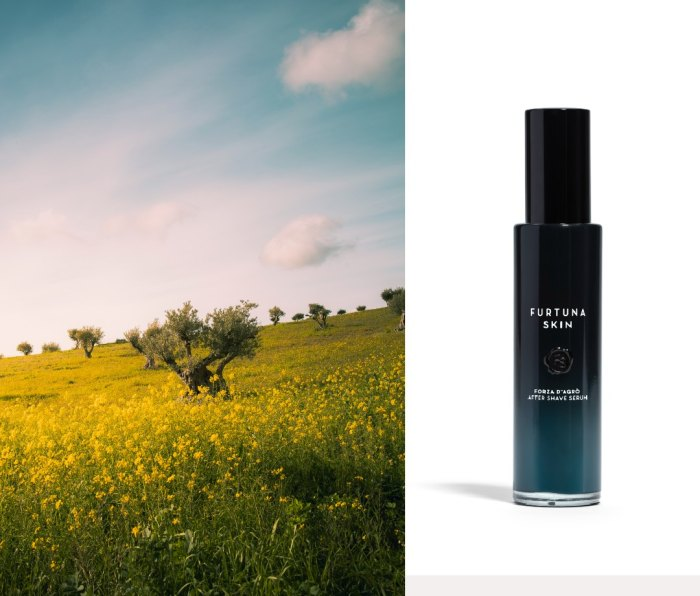 Furtuna Skin Forza d'Agrò After Shave Serum is crafted from wild-foraged plants in Sicily.