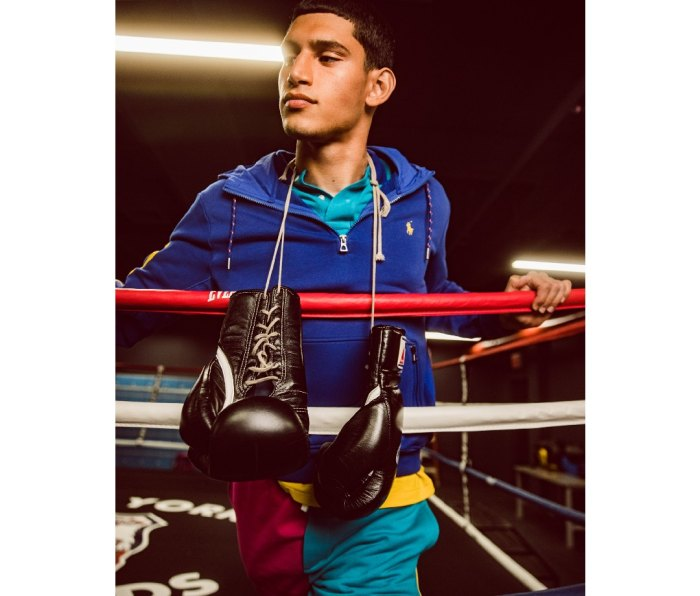 Former boxer and model Alexis Chaparro wears new Polo Men's x Macy's Spectre 2 collection