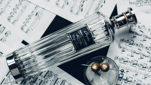 A bottle of Chopin Family Reserve vodka on top of sheet music: Top-shelf vodkas