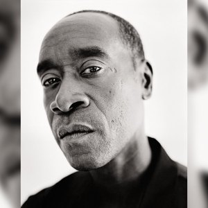Black and white headshot of actor Don Cheadle