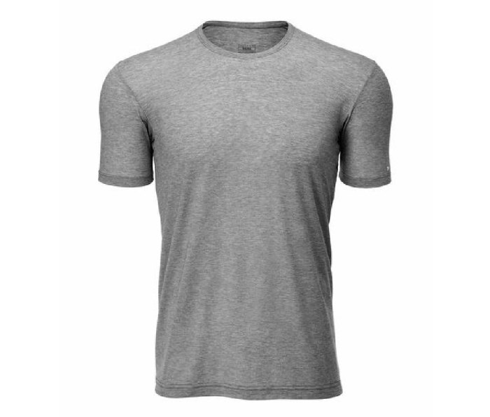 An image of a gray 7Mesh Elevate short sleeve cycling shirt.
