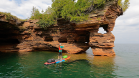Paddleboarding gear for a multi-day trip